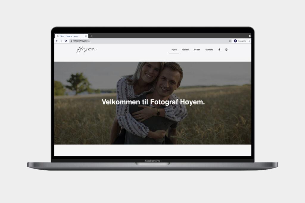 Logo og webdesign for fotograf Høyem.
