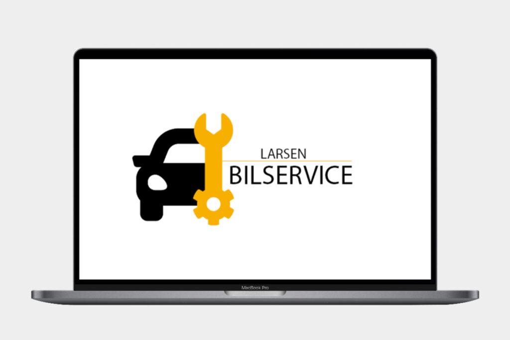 Logodesign for Larsen bilservice.